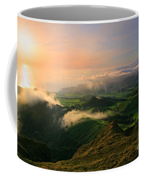 Coast Coffee Mug featuring the photograph Azores Islands Landscape by Gaspar Avila