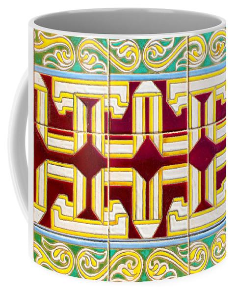 Decoration Coffee Mug featuring the photograph Azulejo - Geometrical Decoration 3 by Andrea Mazzocchetti