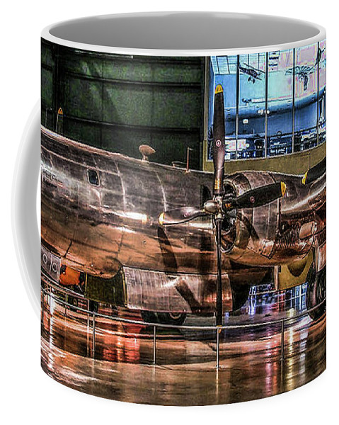Usaf Museum Coffee Mug featuring the photograph B-29 Bockscar by Tommy Anderson