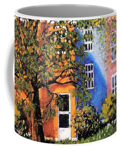 Scenic Coffee Mug featuring the painting Backyard by Jonathan Carter
