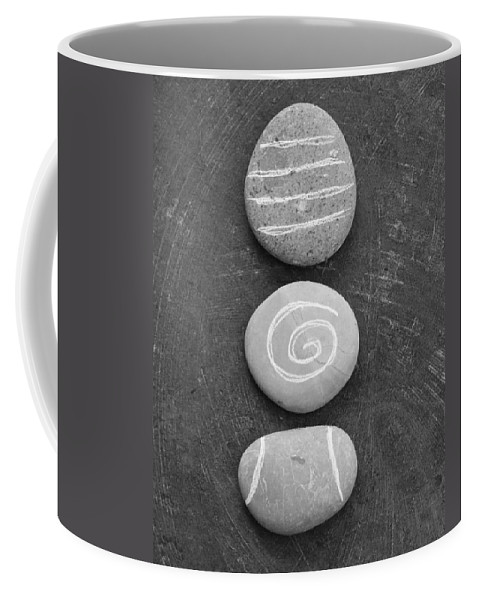 Stones Coffee Mug featuring the mixed media Balance by Linda Woods