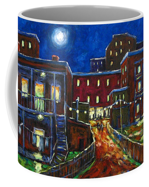 Town Coffee Mug featuring the painting Balconville by Richard T Pranke