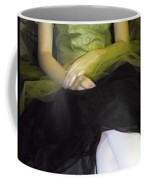 Abstract Coffee Mug featuring the photograph Ballerina Lap 2 by Angelina Vick