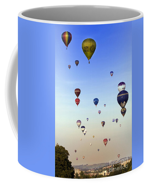 Balloon Fiesta Coffee Mug featuring the photograph Balloon Fiesta by Angel Tarantella