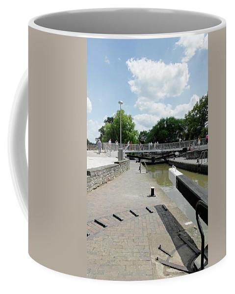 Europe Coffee Mug featuring the photograph Bancroft Basin - Canal Lock by Rod Johnson
