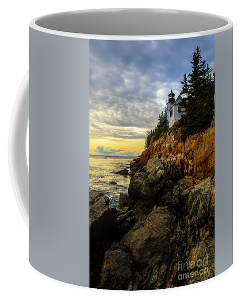 Lighthouse Coffee Mug featuring the photograph Bass Harbor Lighthouse by Diane Diederich