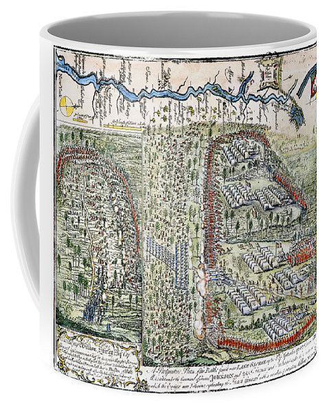 1755 Coffee Mug featuring the photograph Battle Of Lake George, 1755 by Granger