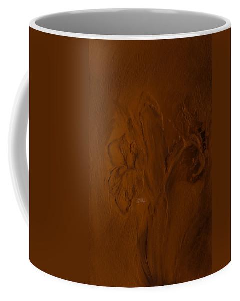 Bearded Iris Coffee Mug featuring the mixed media Bearded Iris by Angela Stanton