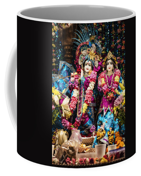 Krishna And Radhe Coffee Mug featuring the photograph Beautiful Image Of Krishna And Radhe From Boise Hare Krishna Temple by Vishwanath Bhat