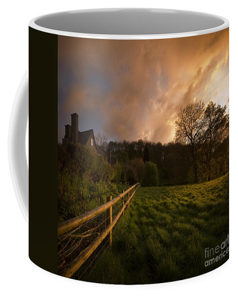 Rural Coffee Mug featuring the photograph Behind The Fence by Angel Tarantella