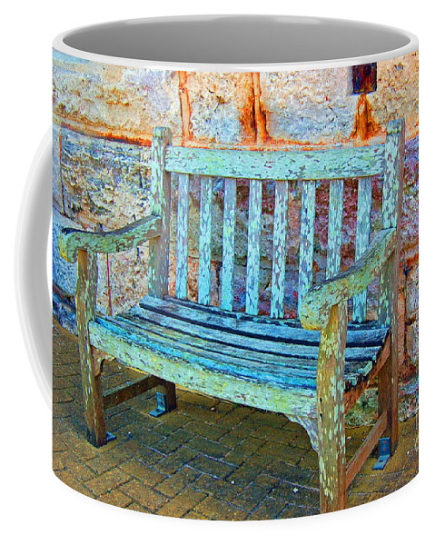 Bench Coffee Mug featuring the photograph Benched by Debbi Granruth
