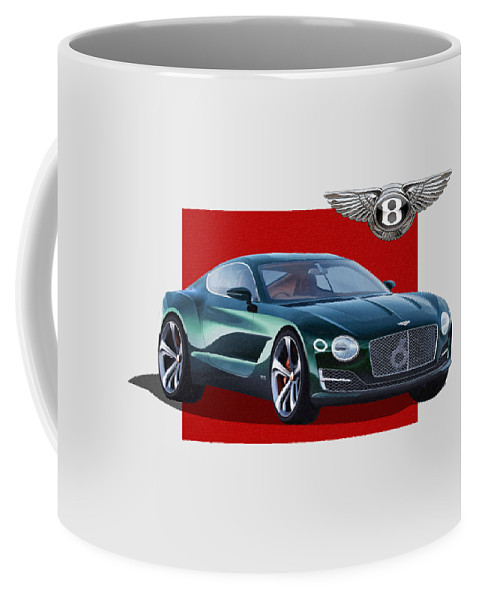 �bentley� Collection By Serge Averbukh Coffee Mug featuring the photograph Bentley E X P 10 Speed 6 with 3 D Badge by Serge Averbukh