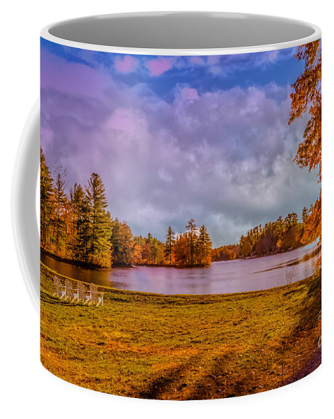 Autumn Coffee Mug featuring the photograph Best Seats In Town by Claudia M Photography