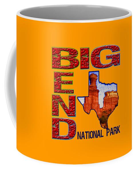 Big Bend National Park Coffee Mug featuring the digital art Big Bend National Park by David G Paul