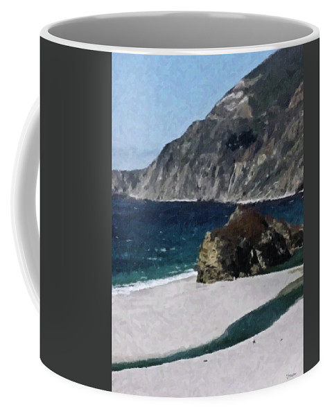 Big Coffee Mug featuring the digital art Big Sur California by Teresa Mucha