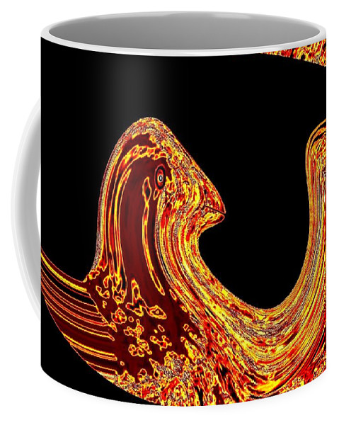Golden Eagle Coffee Mug featuring the digital art Birth Of A Golden Eagle by Will Borden