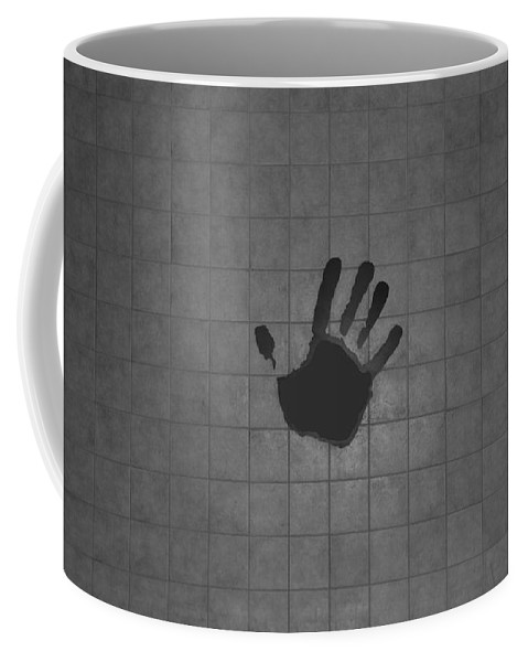 Hand Print Coffee Mug featuring the photograph Black Hand by Rob Hans