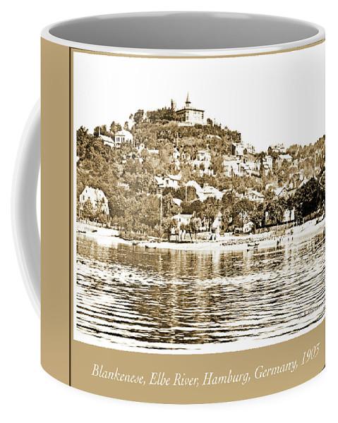 Blankenese Coffee Mug featuring the photograph Blankenese, Hamburg, Germany Suburb, Elbe River, 1903 by A Gurmankin