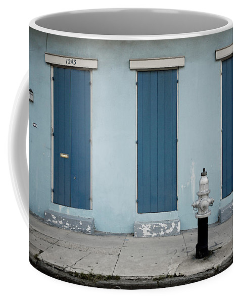 Lawrence Coffee Mug featuring the photograph Blue And Silver At 1243 by Lawrence Boothby