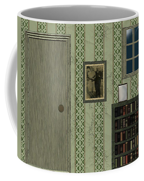Bedroom Coffee Mug featuring the painting Blue Night In A Green Room by RC DeWinter