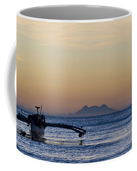 Panoramic Coffee Mug featuring the photograph Boat by George Cabig