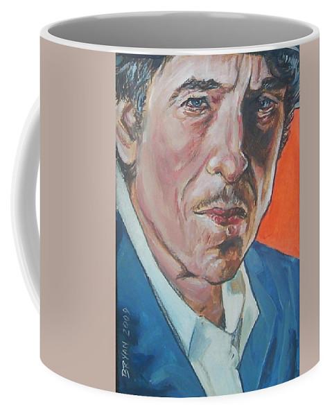 Bob Dylan Coffee Mug featuring the painting Bob Dylan by Bryan Bustard