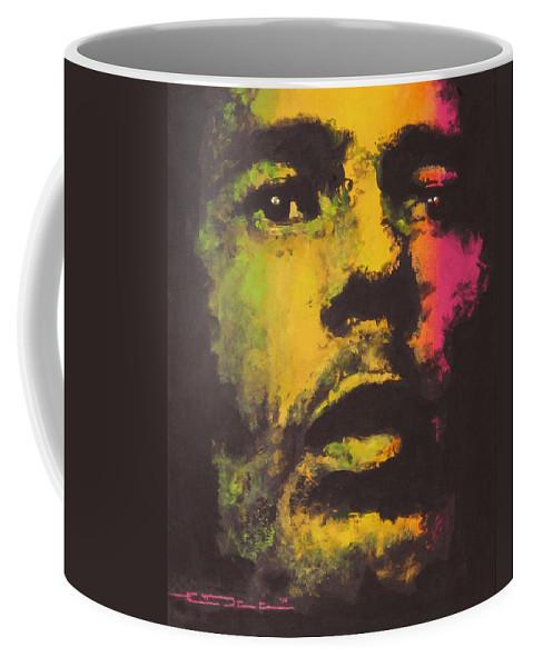 Bob Marley Coffee Mug featuring the painting Bob Marley by Eric Dee