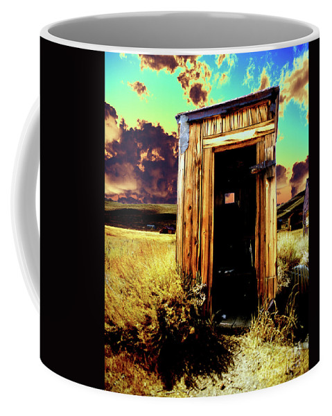 Bodie Coffee Mug featuring the photograph Bodie Outhouse by Jim And Emily Bush