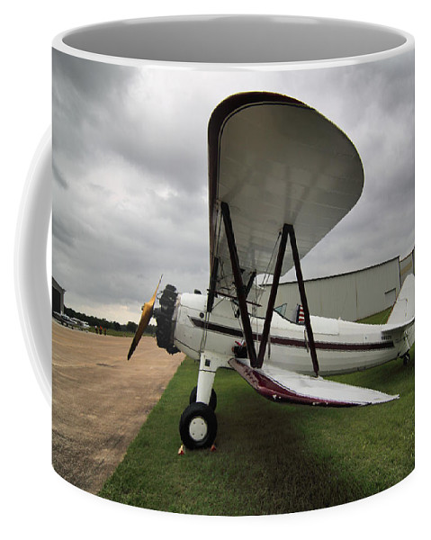 Antique Planes Coffee Mug featuring the photograph Boeing Stearman M7 by Linda Unger