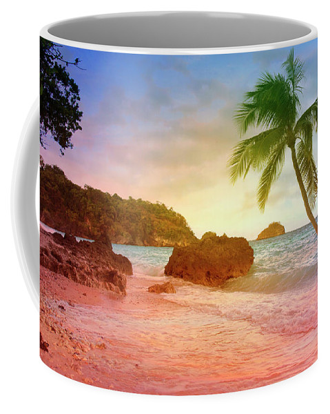 Enjoy Coffee Mug featuring the digital art Boracay Philippians by Mark Ashkenazi