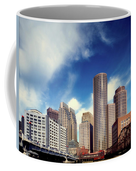 Boston Coffee Mug featuring the photograph Boston Skyline 1980s by Mountain Dreams