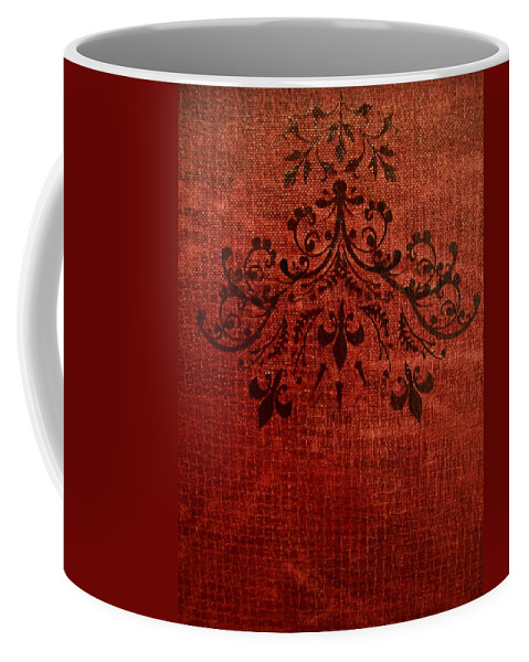 Red Coffee Mug featuring the painting Boudoir Two by Laurette Escobar