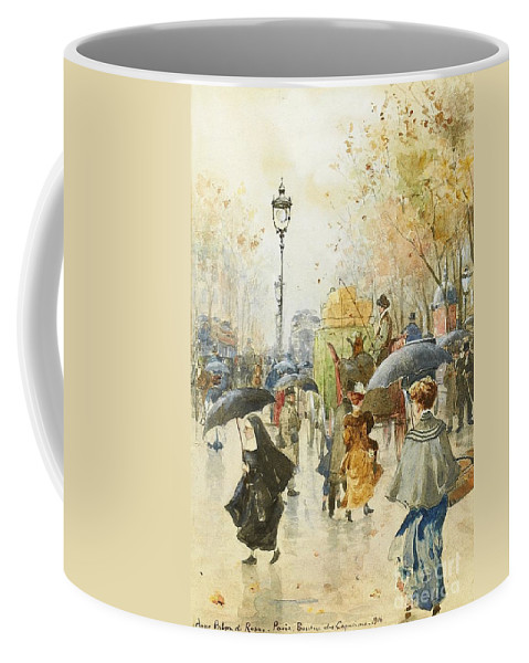Palm De Rosa Coffee Mug featuring the painting Boulevard Des Capucines by Celestial Images