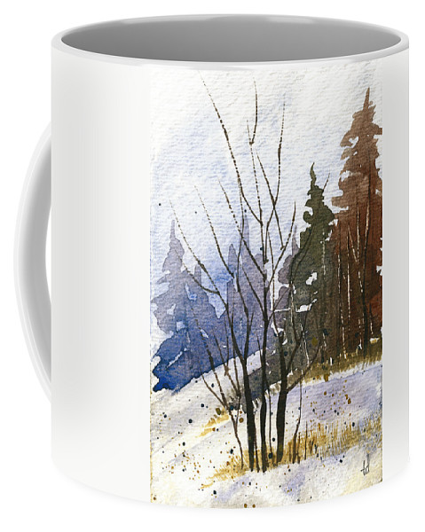 Snow Coffee Mug featuring the painting Branches by Tonya Doughty