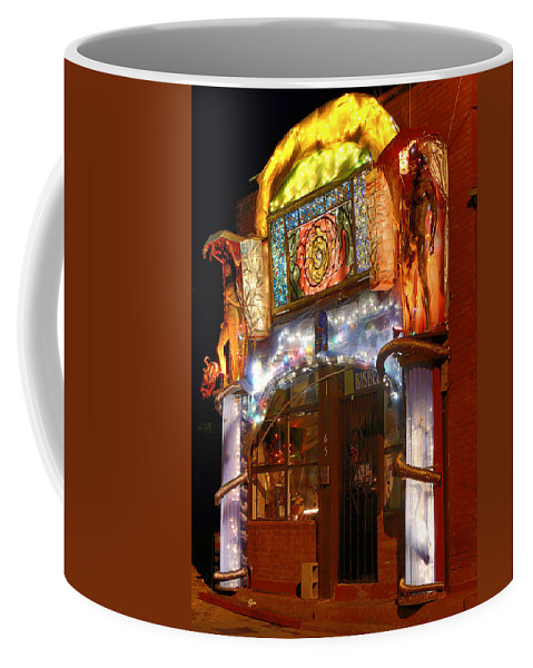 Architecture Coffee Mug featuring the photograph Brewery Gulch Color In Bisbee by Charlene Mitchell