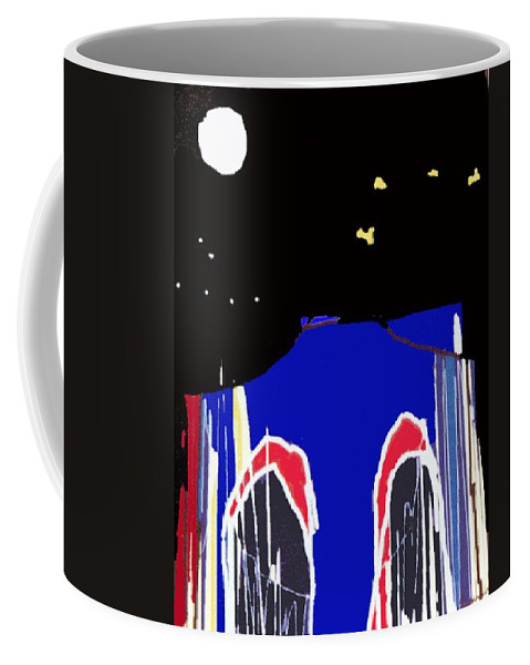 Bridge Coffee Mug featuring the digital art Brooklyn Bridge Blue by Gail Eisenfeld