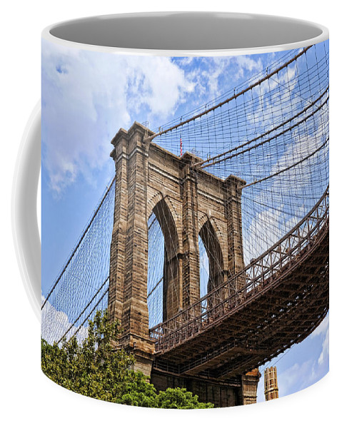Bridge Coffee Mug featuring the photograph Brooklyn Bridge Ny by Kelley King