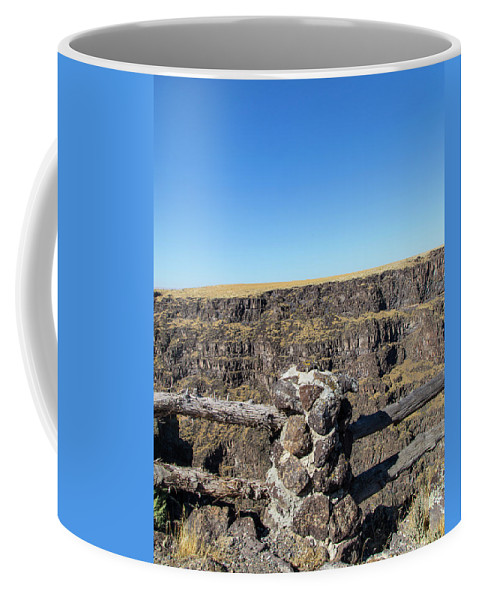 Canyon Coffee Mug featuring the photograph Bruneau Canyon Overlook, Idaho by Dart and Suze Humeston