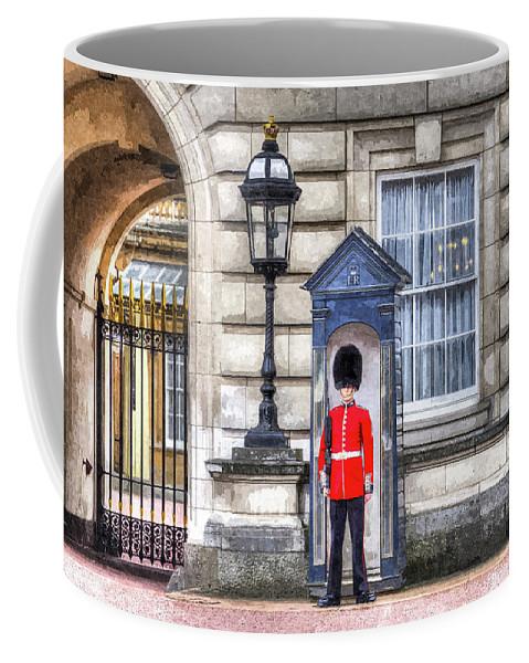 Buckingham Palace Coffee Mug featuring the photograph Buckingham Palace Queens Guard Art by David Pyatt