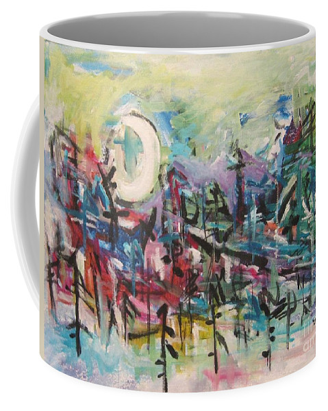 Abstract Paintings Coffee Mug featuring the painting Bummer Flat2 by Seon-Jeong Kim