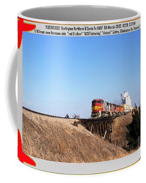 Bnsf Coffee Mug featuring the photograph Burlington Northern Santa Fe Bnsf - Railimages@aol.com by Ronald Estes
