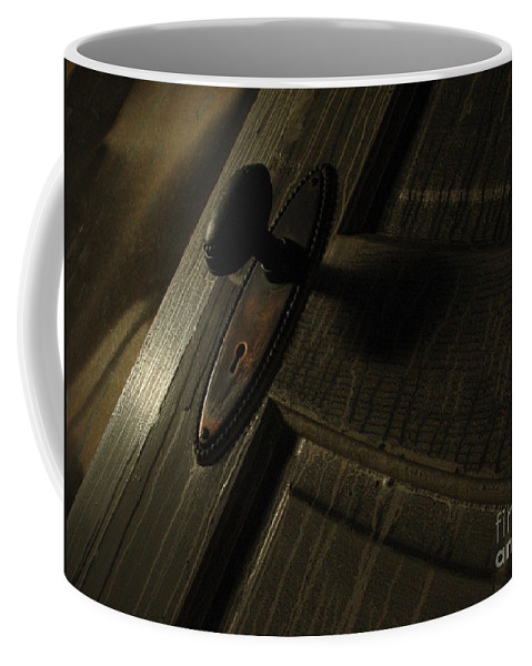 Ghostly Coffee Mug featuring the photograph Burned Knob 02 by Peter Piatt