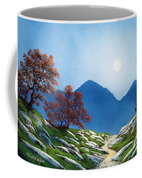 Landscape Coffee Mug featuring the painting By The Light Of The Moon by Frank Wilson