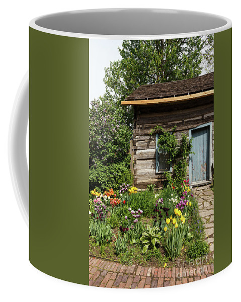 Tulip Coffee Mug featuring the photograph Cabin In The Spring by Terri Morris
