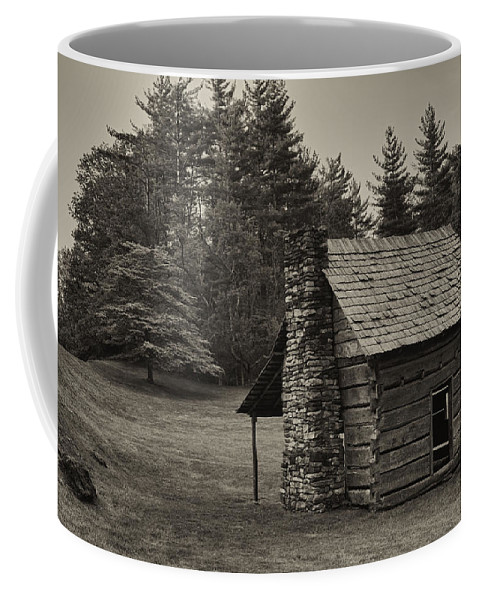 Landscape Coffee Mug featuring the photograph Cabin On The Blue Ridge Parkway - 15 by Joye Ardyn Durham