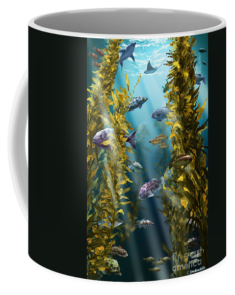 Kelp Forest Coffee Mug featuring the photograph California Kelp Forest by Jim Dowdalls