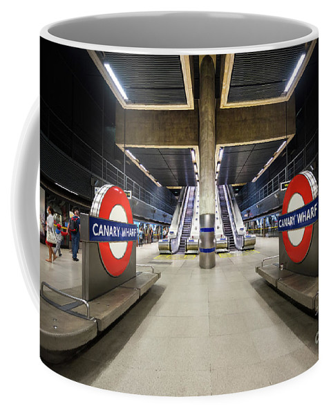 Tube Coffee Mug featuring the photograph Canary Wharf by Svetlana Sewell