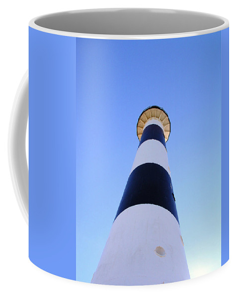Cape; Canaveral; Light; Lighthouse; Lighthousekeeper; Keeper; Stairs; Kennedy; Space Center; Air For Coffee Mug featuring the photograph Canaveral Light by Allan Hughes