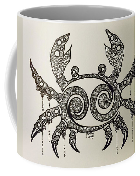 Cancer Zodiac Coffee Mug featuring the drawing Cancer by Maria Leah Comillas