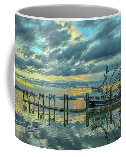 Boat Coffee Mug featuring the photograph Cape Purse Seiner by Paul Fell
